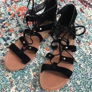 Dolce vita black suede gladiator sandal size 10